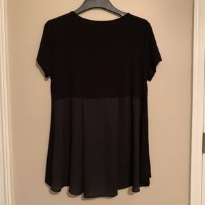 Vince Camuto plus size black and chiffon top